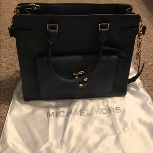 Navy Michael Kors purse